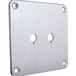 SBPP-SI Binding Post Plate Silver Anodized