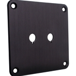 SBPP-BK Binding Post Plate Black Anodized
