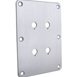 DBPP-SI Double Binding Post Plate Silver Anodized